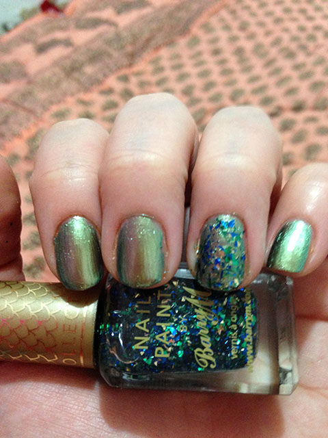 Barry M Aquarium Nail Look