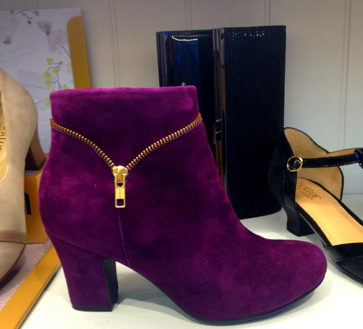 Hotter Shoes Plum Vanity Boots